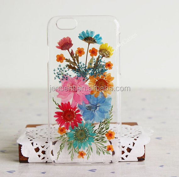 new design nature real resin flower phone case dry flower phone case for iphone 6 7 plus