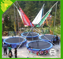hot sale bungee jumping trampoline for children and adults