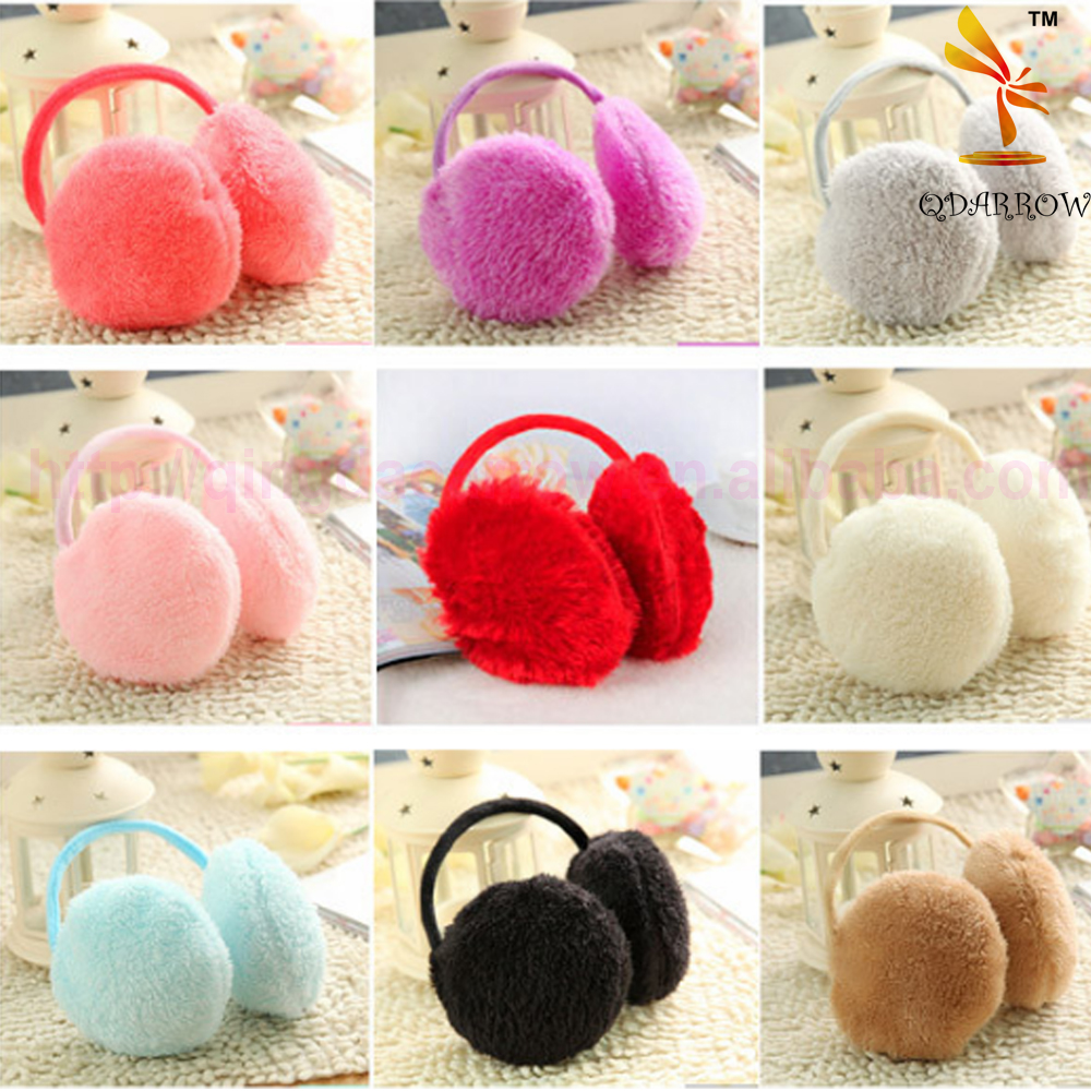 Korean cute fluffy wild hair hoop earcap girls favorite winter warm earmuffs