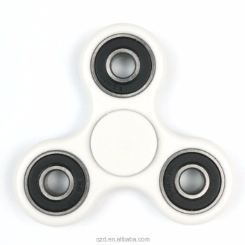 Tri Fidget Hand Spinner, Ultra Fast Bearings, Finger Toy, Great Gift for ADD, ADHD, Anxiety and Autism Adult Children, White