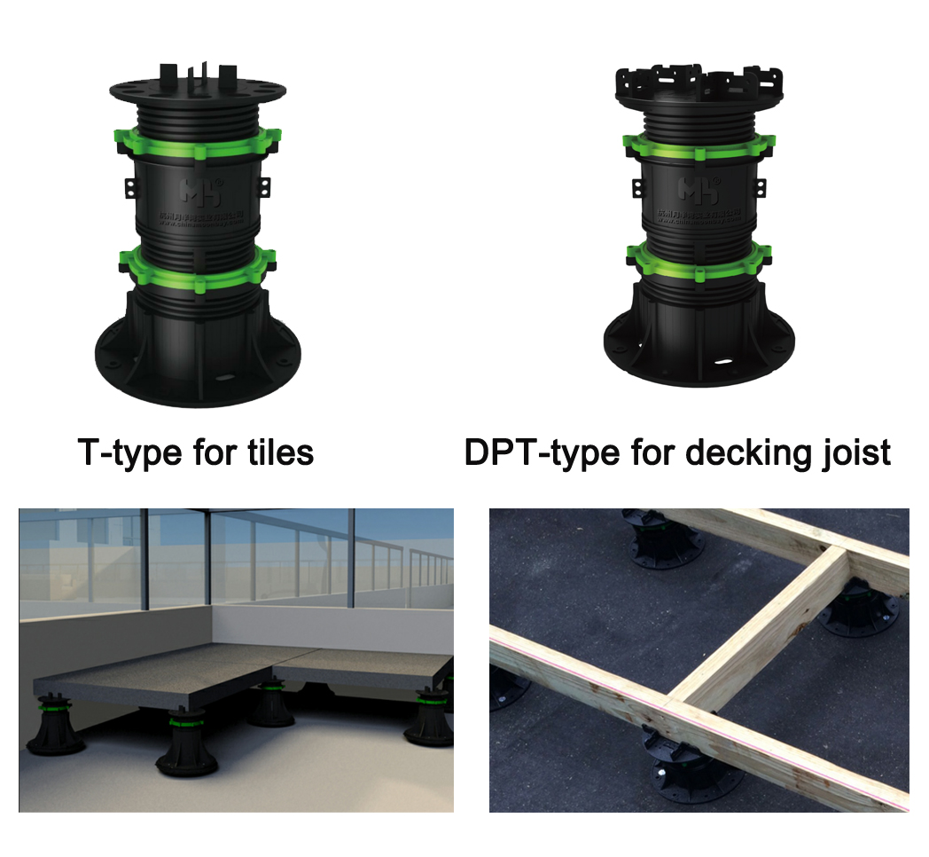 adjustable paving raised float floor  support(MB-T0-D 60MM-105MM)