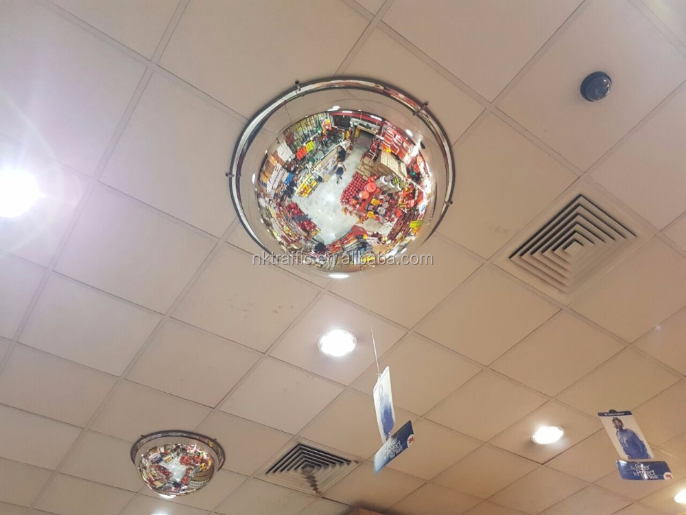 Hanging full dome PC convex mirror for Ceiling/warehouse