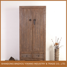 Antique reclaimed recycled wood chinese style wardrobe cloth cabinet