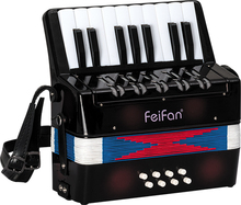 17 key 8 bass newest design and cheap black key piano accordion for sale