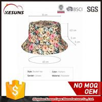 Free Shipping Promotional Custom Floral Print Women Bucket Hat