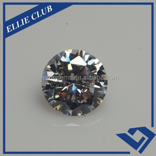 White round cubic zirconia/ loose rough diamonds price cz