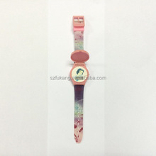 Snow White Silicone Flip Children Watch