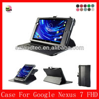 Laudtec wholesale alibaba best seller for 2013 new product stand leather case cover for google Nexus 7 ii