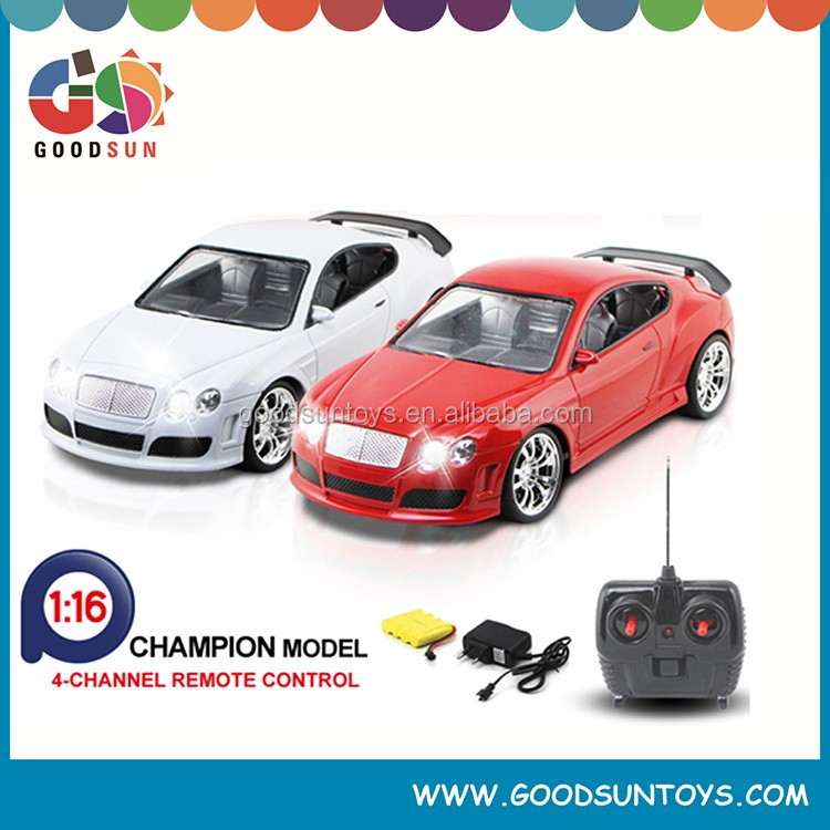 Best selling 1:16 rc racing toys car 4 channel toys rc car made in china with light and Rechargeable Battery