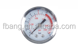 Air compressor floating pressure gauge control of electrical pump