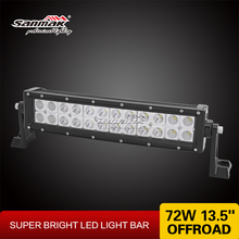 Sanmak quality assured wholesale CE RoHS IP67 SGS TUV 72w 13inch auto led off road light bar