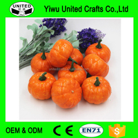 Lifelike Artificial Foam Orange Mini Halloween Pumpkin Wedding Party Festival Home Decoration