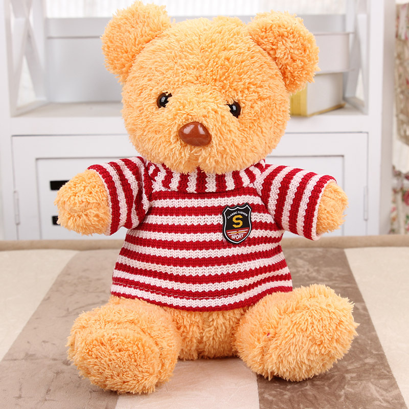 wholesale stuffed PP cotton 28cm fancy teddy bear