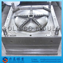 plastic chair base mould, five star base mould, office chair mold