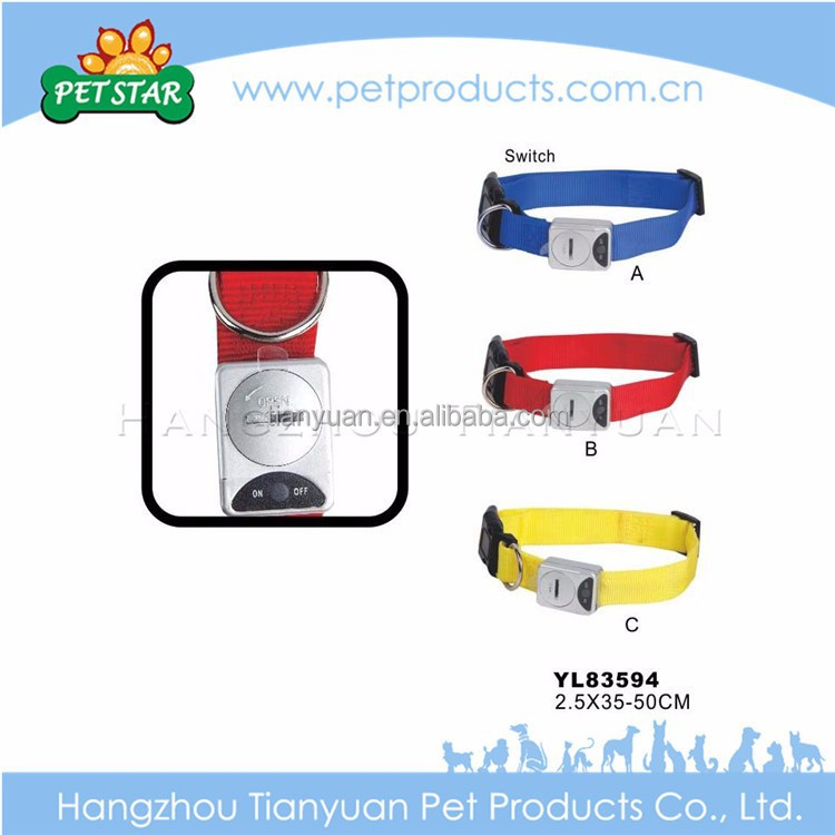 Wholesale high quality custom design fluorescent dog collars