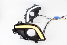 With Yellow Turn Signal Function Light!!LED daytime running light For Mazda Atenza,2pcs/set+wire 12V, 6000~7000K