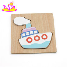 New hottest mini 3d wooden boat puzzle for kids education W14D036