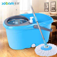 Microfiber Easy Wring Spin Mop,Bucket System with two Refills