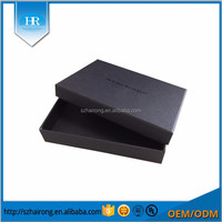 Custom black empty gift packaging box with length23.7cm width 24cm high 9.5cm
