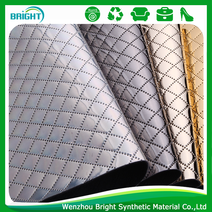 shoe leather Synthetic Leather, quilting wholesale faux leather fabric, leather material