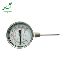 Durable steam temperature gauge dial bimetal thermometer gauge
