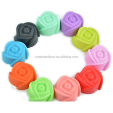 5cm silicone rose cupcake baking mold ice cube