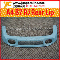 Fiberglass A4 B7 RJ Rear Bumper Lip for Audi 06-08 A4 B7 Body Kit Lip Spoiler
