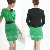 lady suit blazer skirt sets/blazer short set/set of blazer with skirt