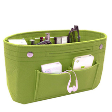 High Quality Makeup travel Felt Cosmetics Organizer Bag