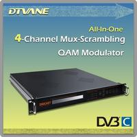 (DMB-5120) multiplexer qam Modulator for dvb-c, multiplexer scrambler qam modulator, 8 channels audio vedio rf modulator