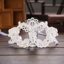 Factory outlet Half Face white Lace Bulk Masquerade Masks