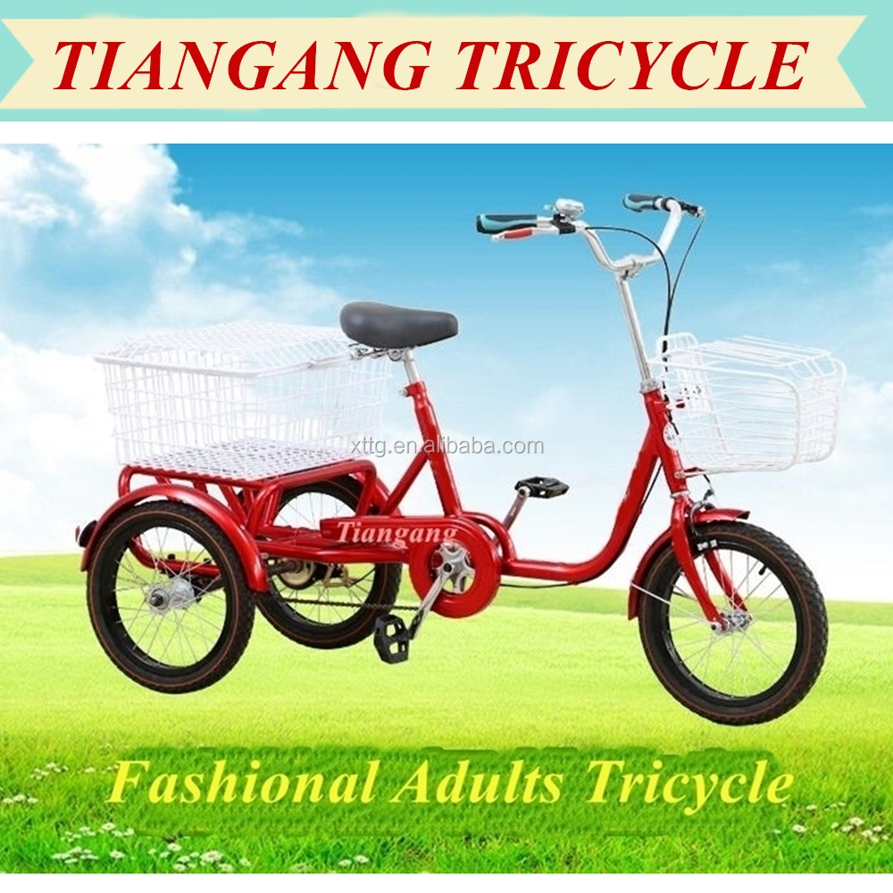 20 inch Folding Aluminum Alloy Adult Tricycle for Elderly Scooter Trike Cargo Bike For Sale