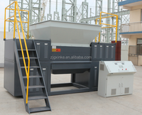 double shaft shredder shredding machine for pp pe film woven bags