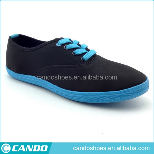 fashion blue pvc injected outsole casual shoes men