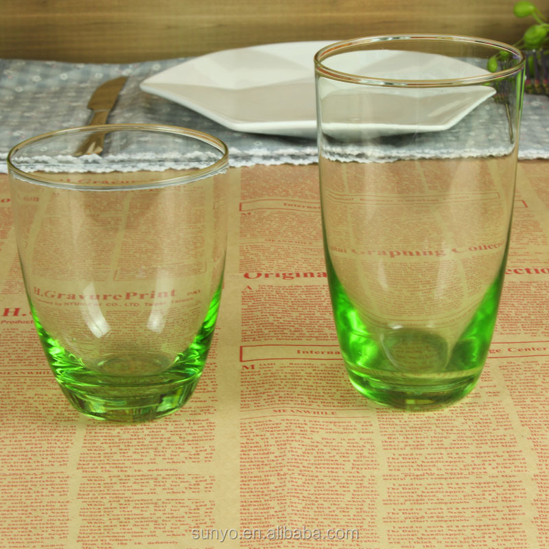 High Quality Crystal Colored Glassware Sets Buy Colored