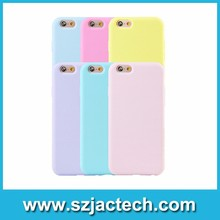 Solid Candy Color TPU Cover Case for iPhone 5 6s Soft Gel Rubber Phone Case for iPhone 7 7 plus