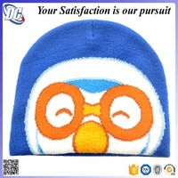 High quality promotional soft warm 100% acrylic custom animal children kids funny knitted hat
