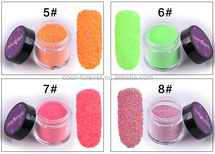 Fluorescent powder 10 mix colorized glitter powder