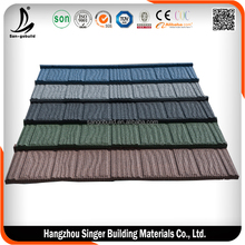 Newzaland Standard cheap Durable Colorful Stone coated metal roofing tile
