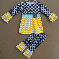 Fashion style western girls outfit baby fall clothing winter girls boutique outfit