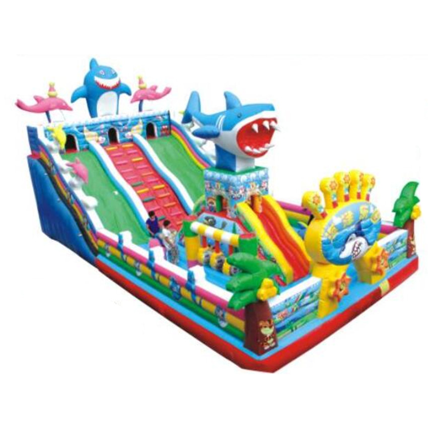 kids outdoor jumping theme park Inflatable Castle soft bouncy castle outdoor playground For sale