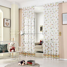 Fruit rural nature sheer children window curtain