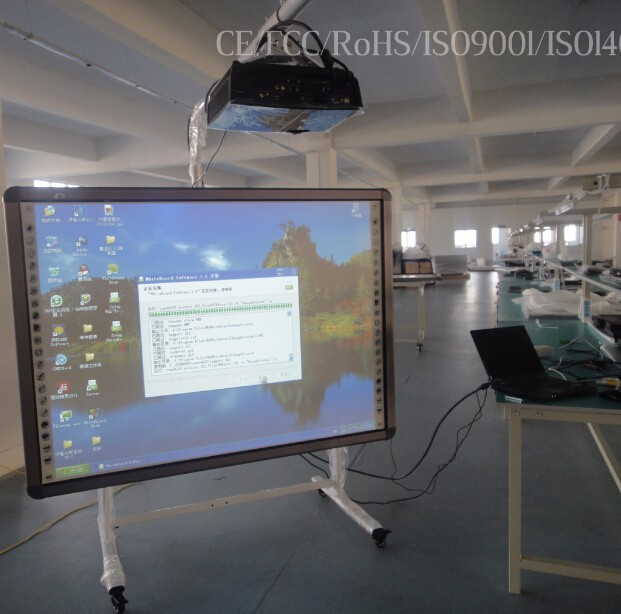 82 inches white smart board with ce, iso, fcc, rohs and electronic whiteboard pen