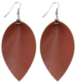 2018 fashionable leaf leather earrings 13 colors leather leaf earrings most popular leather leaf shape earrings