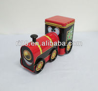 Train shaped metal box