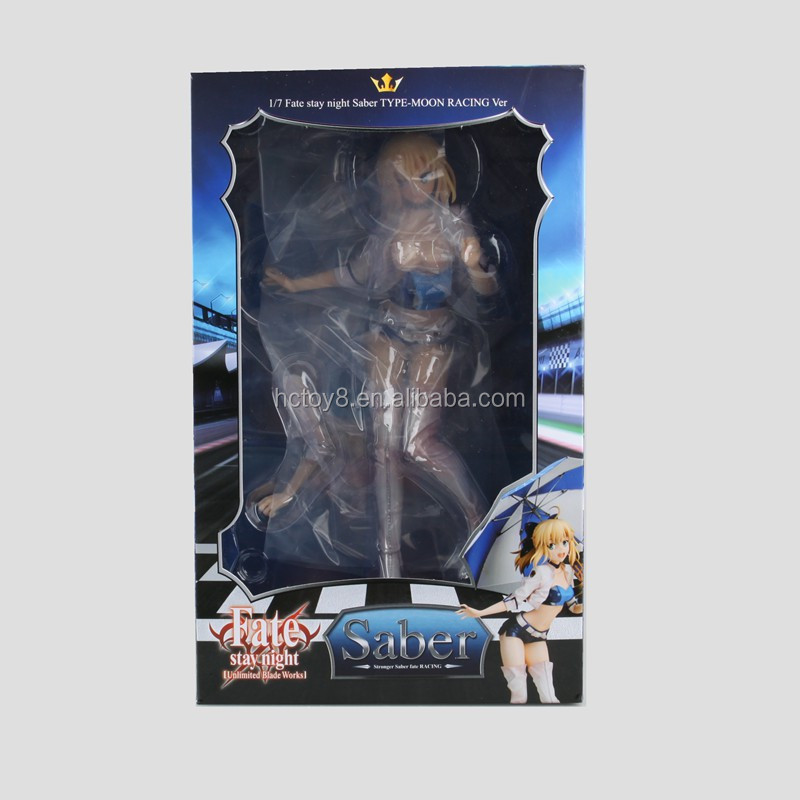 Gzltf Wholesale Saber Racing Ver Sexy irl Model doll PVC Japanese Anime figurine Action Figure