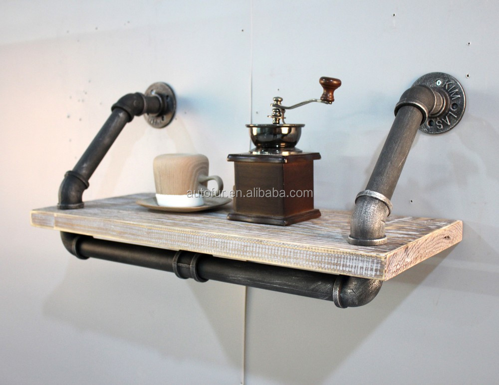 Metal Industrial Adjustable DIY Three Tier Pipe Bookshelves for Office Salon
