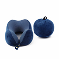 New design soft folding memory foam travel neck support pillow