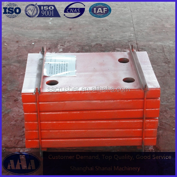 High Manganese Steel Casting Wear Resistant Jaw Crusher Side Plate Cheek Plate Check Plate
