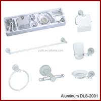 DLS-2001 Nice Price Wall Mounted Aluminum Bathroom Accessories 6PCS Hotel Toilet Bath Hardware Set Aluminum